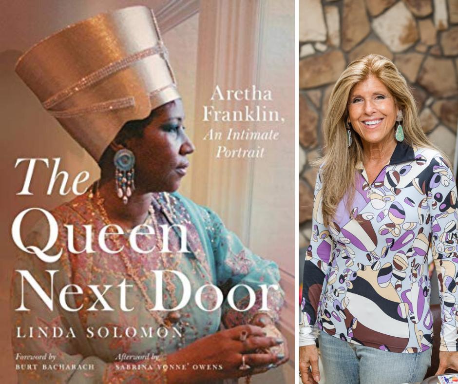 The Queen Next Door Book Cover and Photo of author Linda Solomon