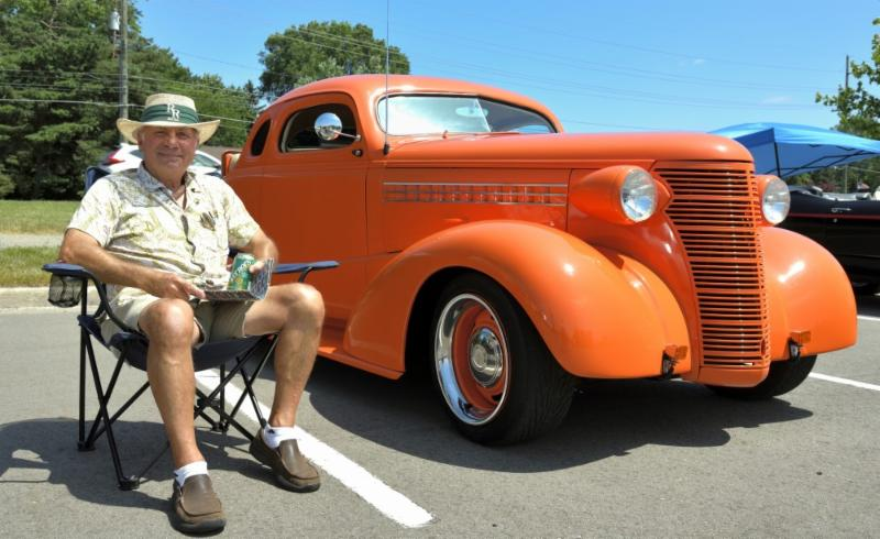 Man with Classic Car Photo
