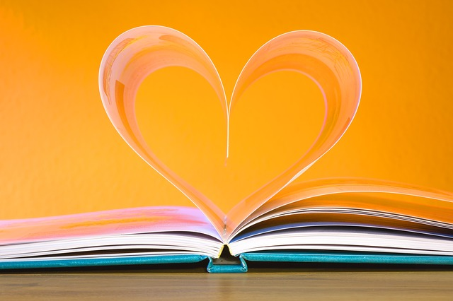 Book with Pages as Heart