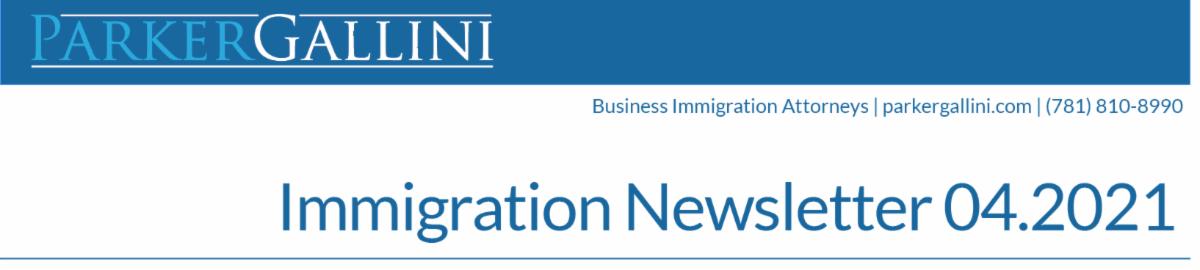 April Immigration Newsletter