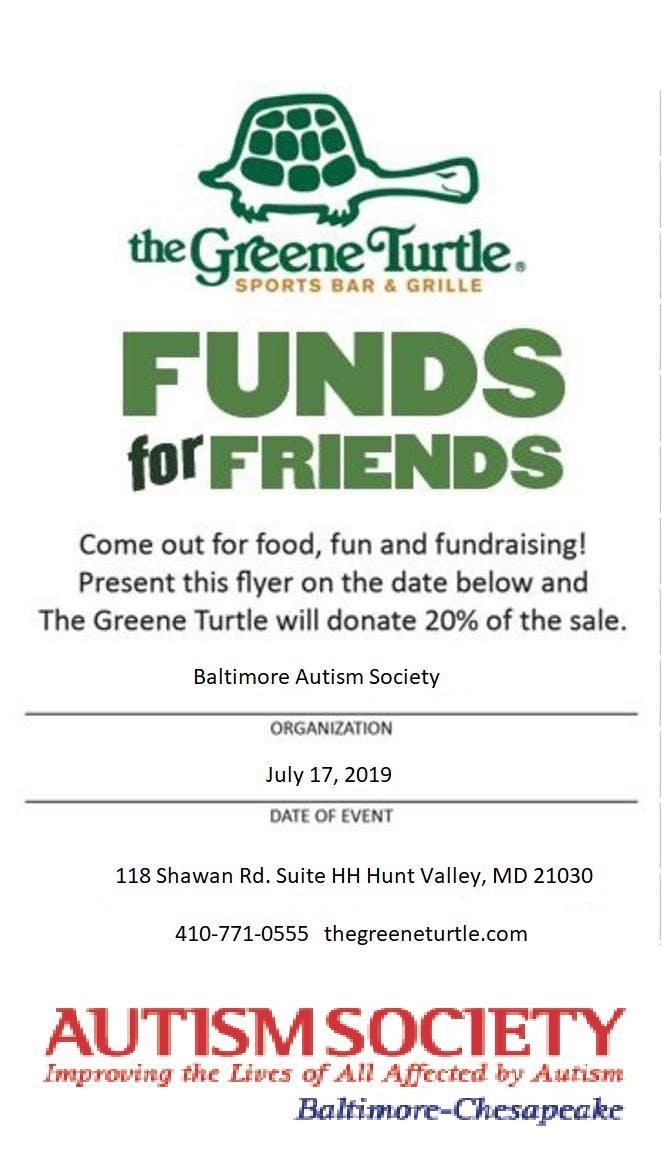 Greene Turtle ASBC Fundraiser