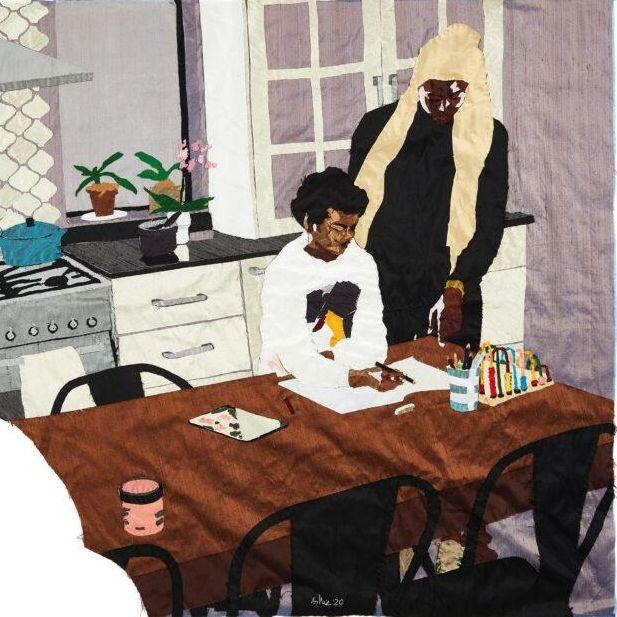 Billie Zangewa, Heart of the Home. Raw Silk