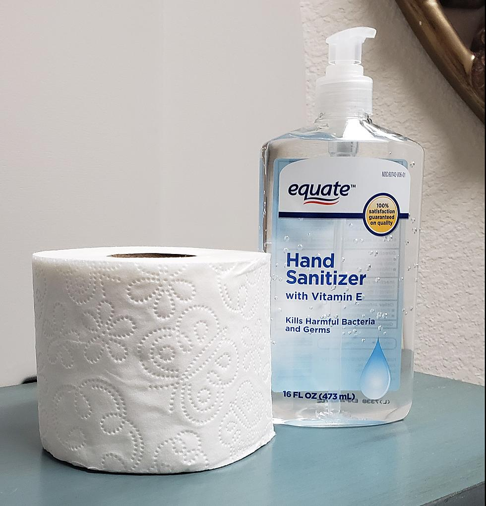 Toilet Paper and Hand Sanitizer
