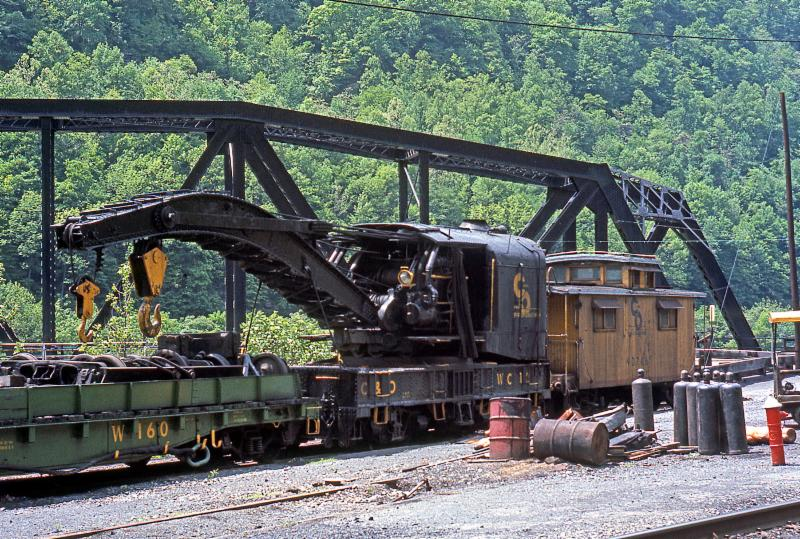 C&O Wreck Crane No. WC-12 with its attendant train parked on siding behind Thurmond, W. Va. depot on May 19, 1968. The third quarter 2017 C&O Quarterly ...