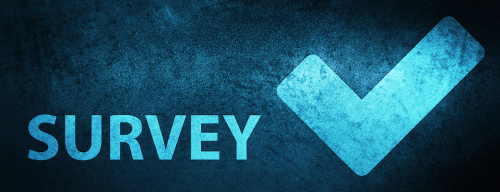 Survey  validate icon  isolated on special blue banner background abstract illustration