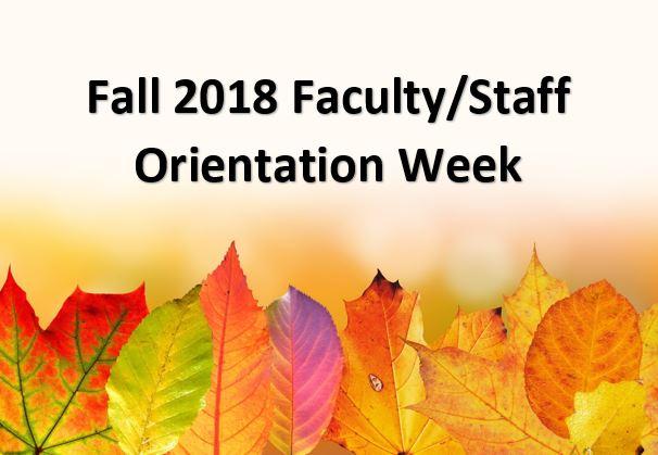 fall 2018 orientation week