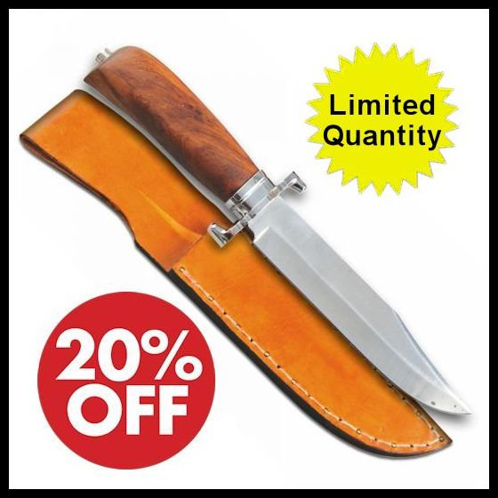 FORT WASHITA BOWIE KNIFE with SHEATH