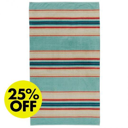 Pendleton Serape Stripe Aqua Towel