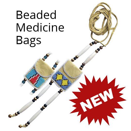 Beaded Medicine Bags