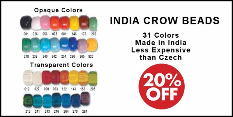 India Crow Beads Sale