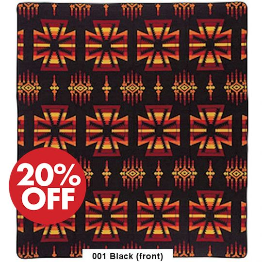 Apache Bedspread - Acrylic 88x96 Black