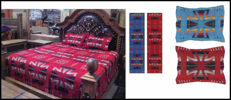 Apache Bedspread and Pillow Shams