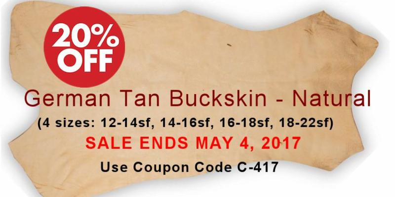 Crazy crow enews wednesday april 20 2017 coupon specials new we purchased a quantity of this fine quality buckskin at super savings and are passing it along to you item no 1600 628 then select size desired fandeluxe Choice Image