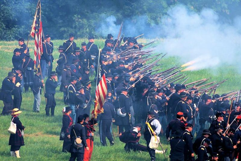 Gettysburg Civil War Battle Reenactment
