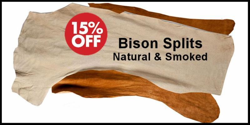 Bison Splits Leather - Natural & Smoked