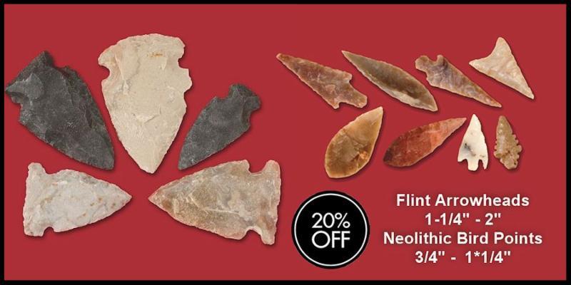 Flint Arrowhead & Bird Point Sale
