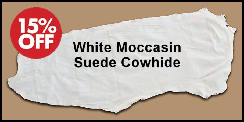 White Moccasin Suede Cowhide Sale