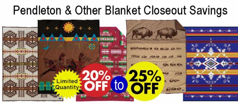 Pendleton & other Blankets Holiday Closeout