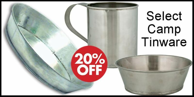 Camp Tinware Sale