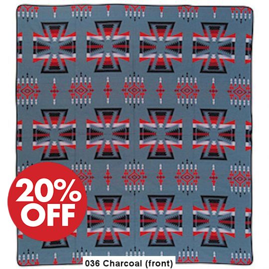 Apache Bedspread - Acrylic 88x96 Charcoal