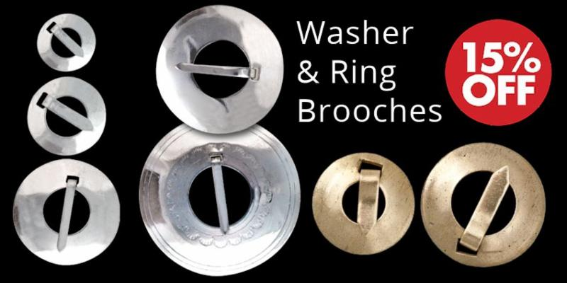 Ring and Washer Brooches Crow Calls Sale