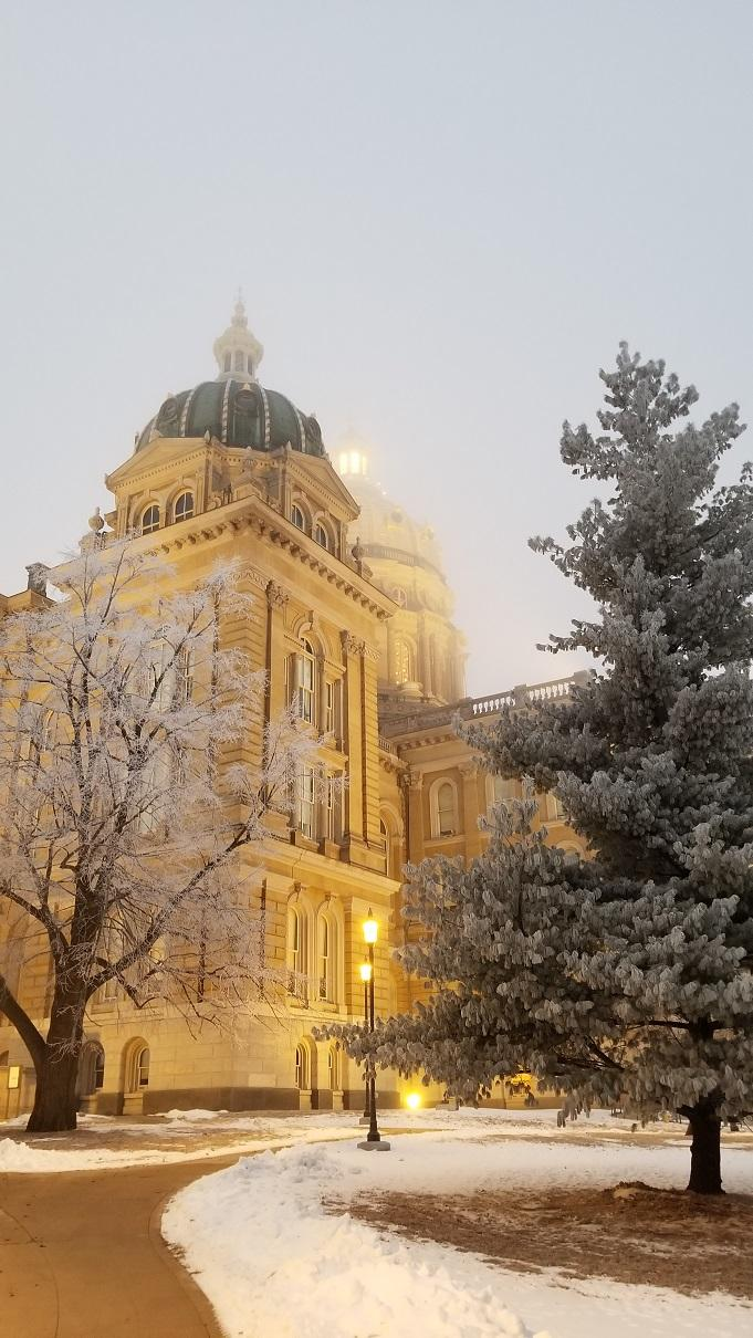The Capitol Dome on a foggy Wednesday morning
