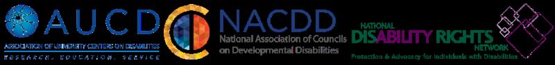 AUCD, NACDD and NDRN Logos