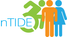 nTide logo, people with person in wheelchair
