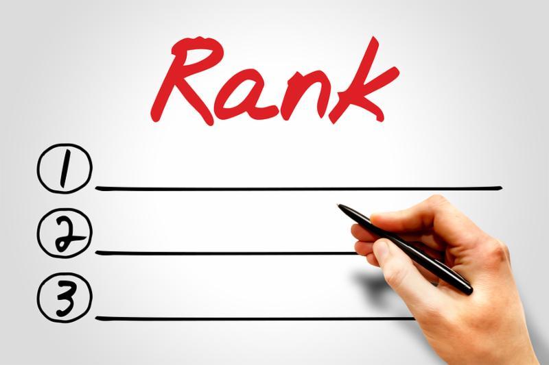 Rank blank list business concept presentation background