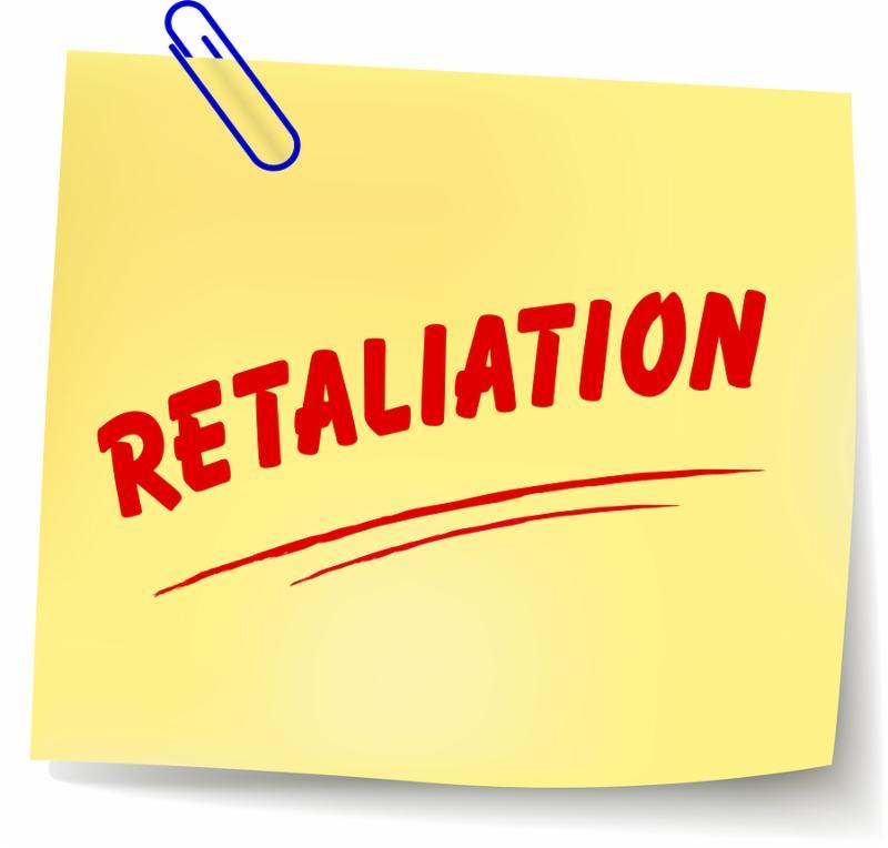 illustration of retaliation paper message on white background