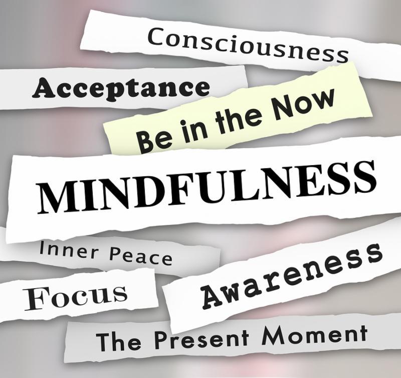Mindfulness Newspaper Headlines Inner Peace Focus 3d Illustration