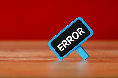 Error_ Technology Concept