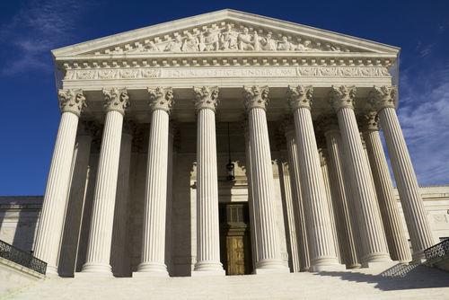 Supreme Court building in Washington_ DC_ United States of America