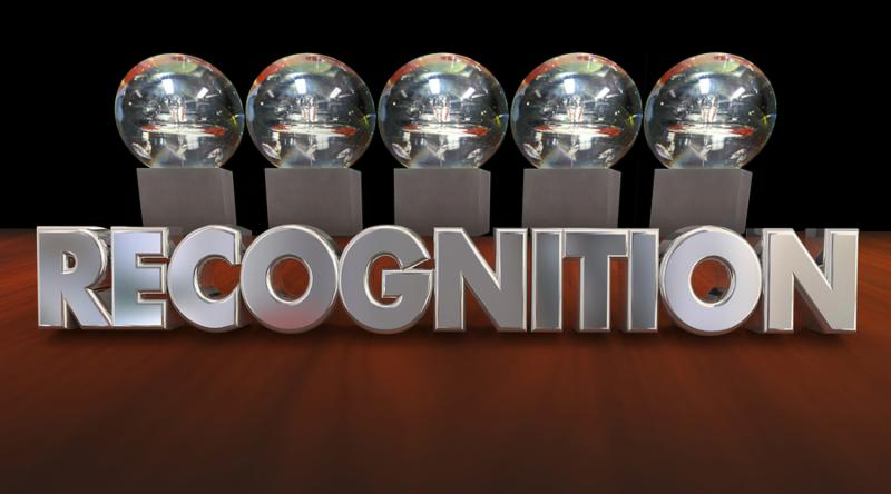 Recognition Awards Ceremony Appreciation Trophies 3d Illustration