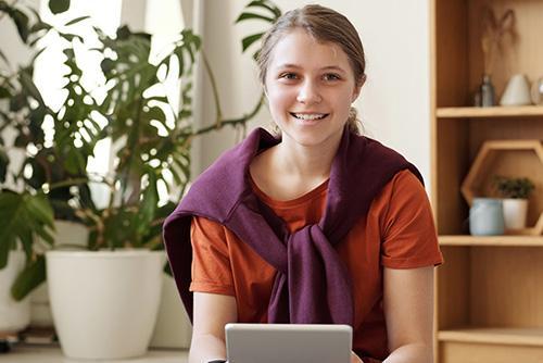 Photo of teenage girl Zola