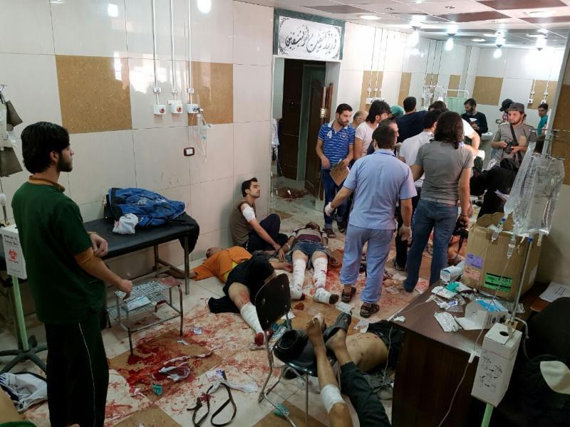Blessés dans les hôpitaux d'Alep ce week-end du 24/25 septembre 2016