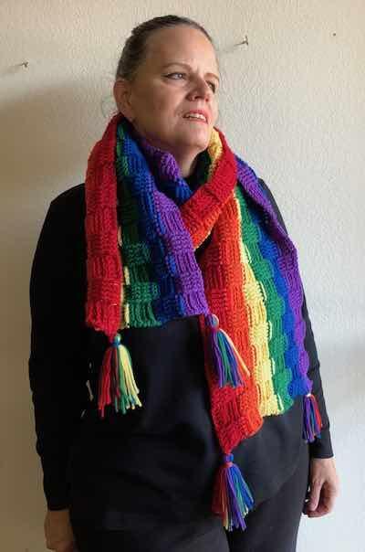 Rainbow Crochet Scarf
