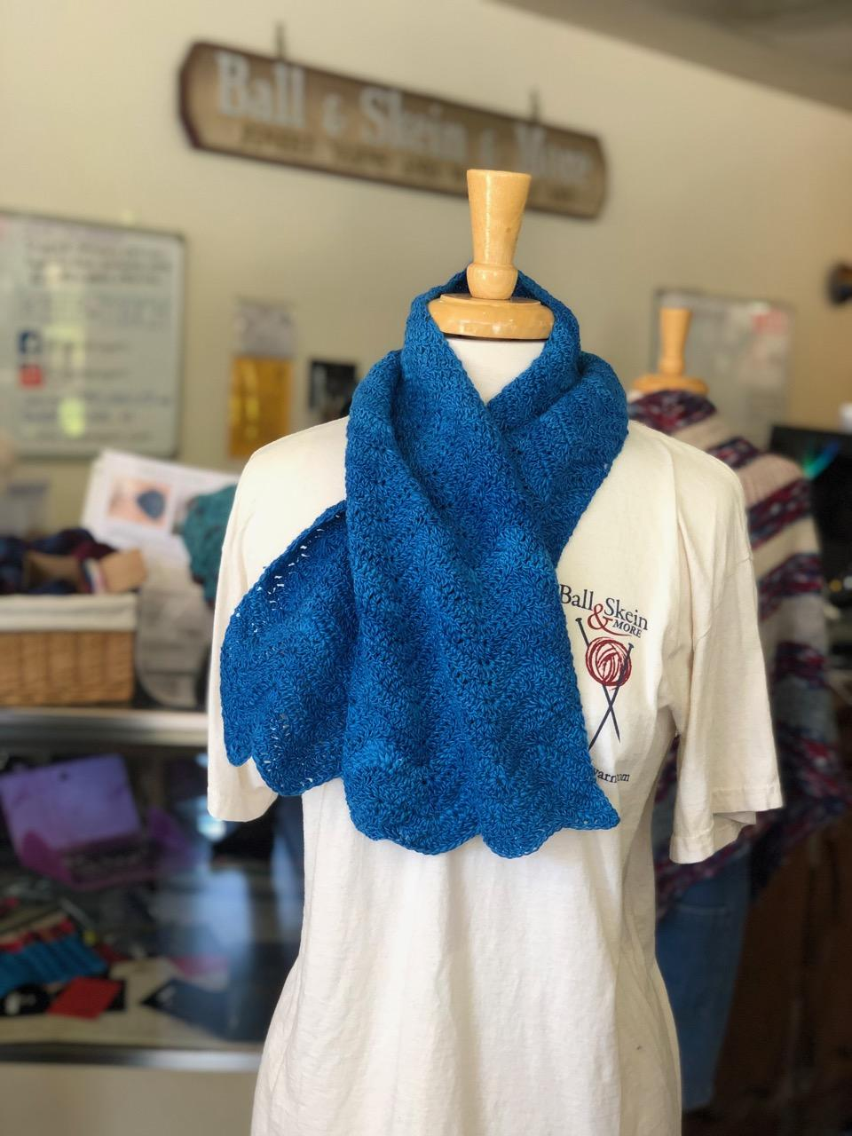 Feather and Fan Crochet scarf