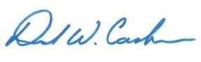 David W. Cash signature