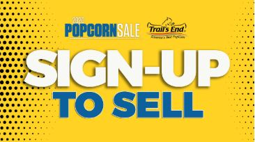 Popcorn Sign Up To Sell Logo