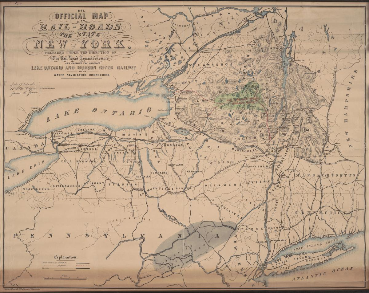 Map of the New York railroads.