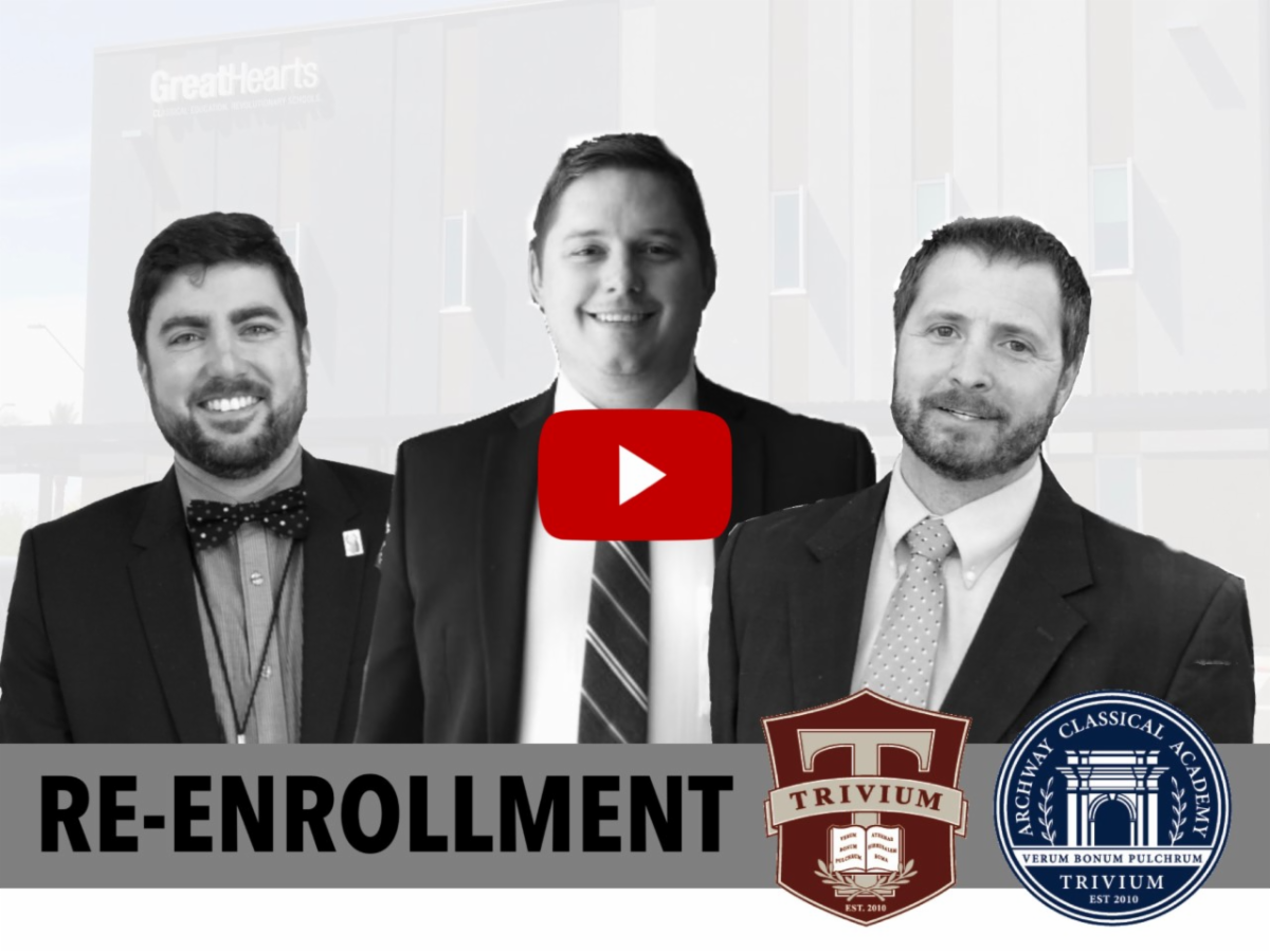 Re-enrollment video from Trivium headmasters