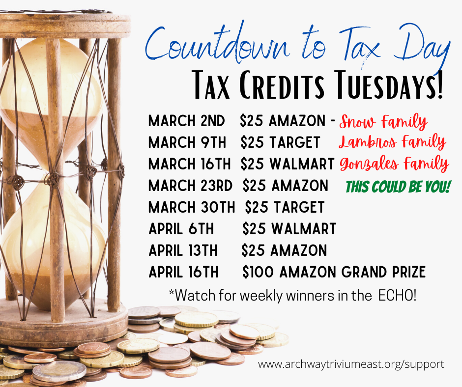 Tax Credit Tuesday promo