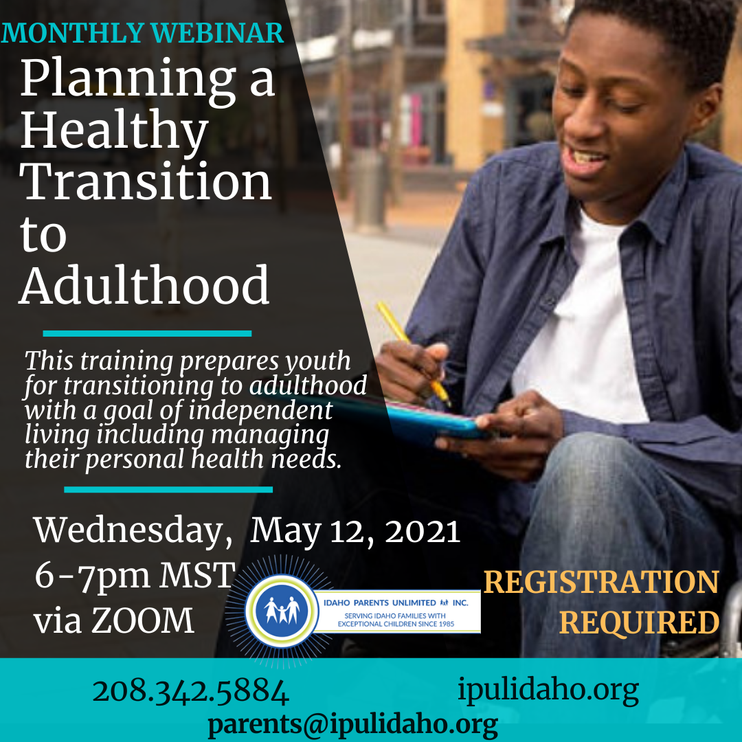 planning a healthy transition flyer