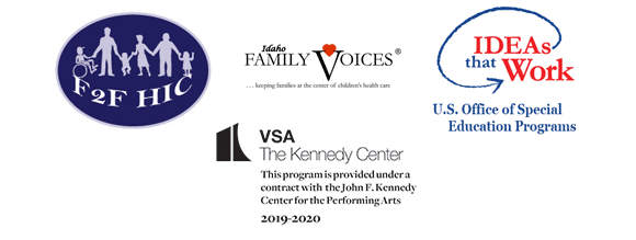 logos for f2fhic  idaho family voices  ideas that work and vsa