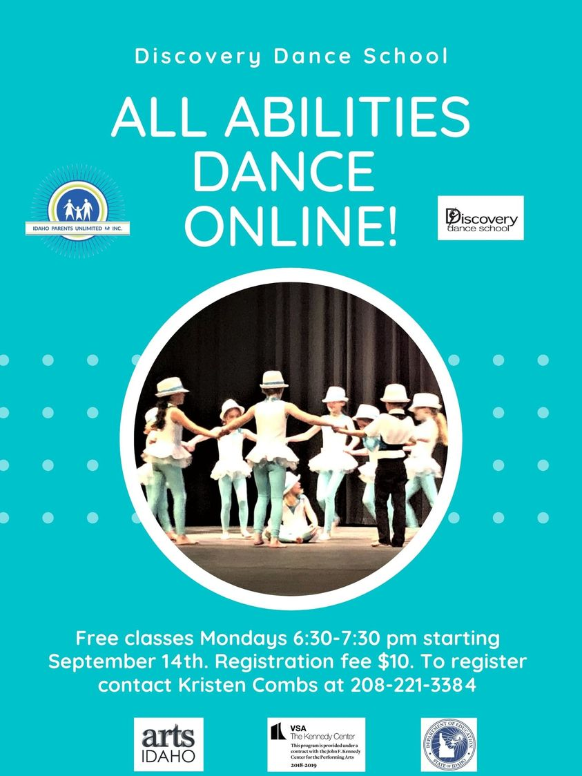 Event flyer showing kids dancing on a stage