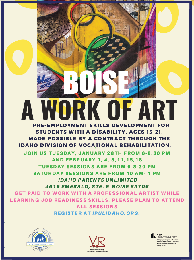 Work of art Flyer for Boise 2020 Winter