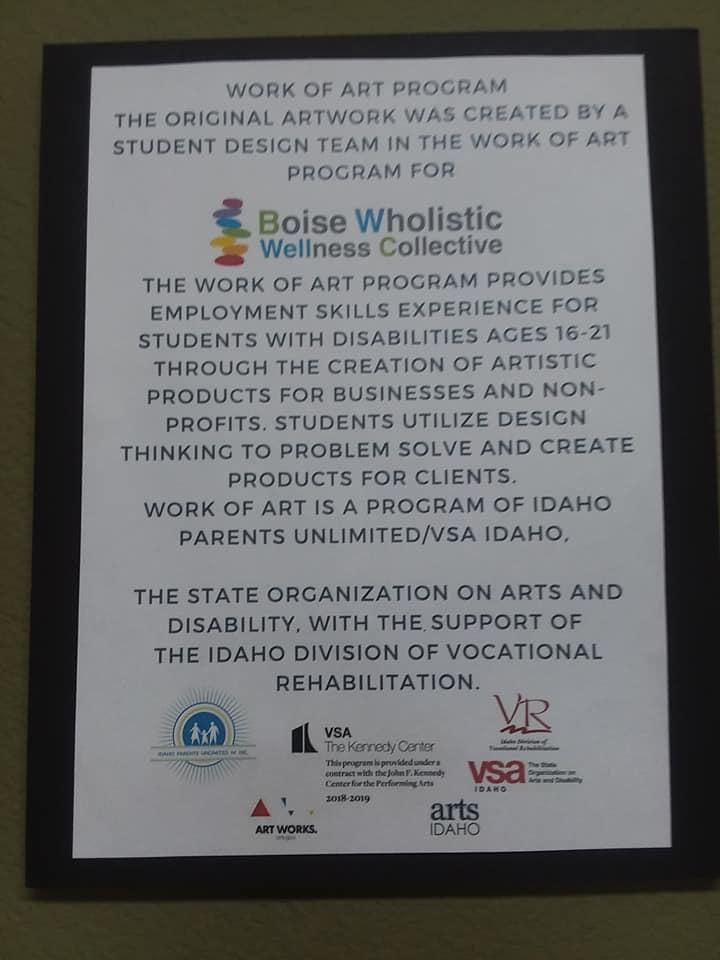 poster explaining work of art
