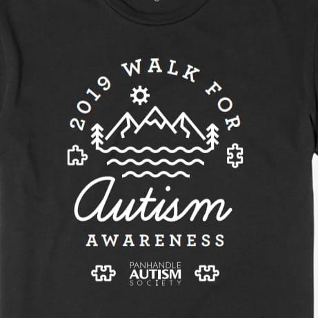 walk for autism awareness logo
