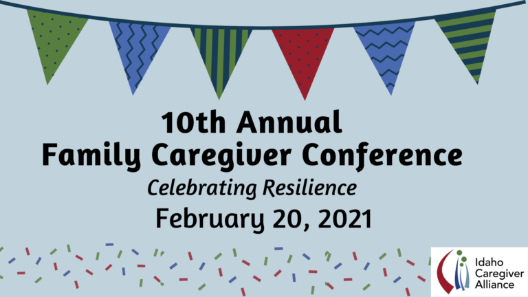 10th annual family caregiver conference banner